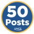 50 posts badge